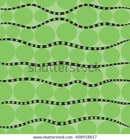 Duplicate background in peas in green color - stock vector