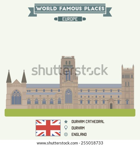 Durham Cathedral, England - stock vector
