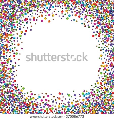Dust particles.Colorful cubes composition.Background template. - stock vector