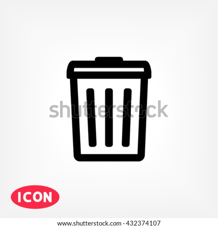 Dustbin Icon, dustbin icon flat, dustbin icon picture, dustbin icon vector, dustbin icon EPS10, dustbin icon graphic, dustbin icon object, dustbin icon JPEG, dustbin icon picture, dustbin icon image - stock vector