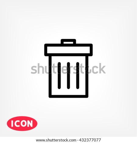 Dustbin Icon, dustbin icon flat, dustbin icon picture, dustbin icon vector, dustbin icon EPS10, dustbin icon graphic, dustbin icon object, dustbin icon JPEG, dustbin icon picture, dustbin icon image - stock vector