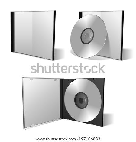 Dvd box set. - stock vector