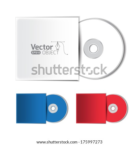 Dvd disc - stock vector