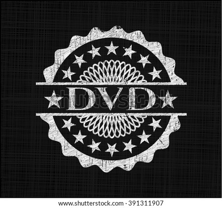 DVD written with chalkboard texture - stock vector