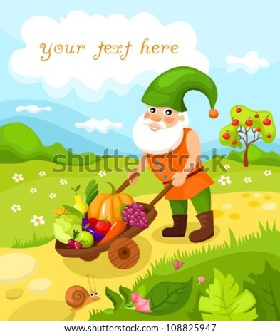 dwarf - stock vector