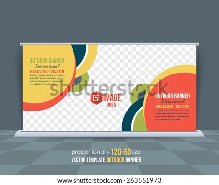 Dynamic Business Theme Outdoor Banner Design, Advertising Vector Template  - stock vector