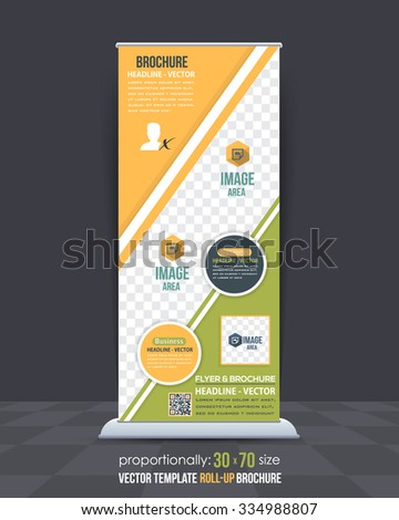 Dynamic Business Theme Roll-Up Banner Design, Advertising Vector Template  - stock vector