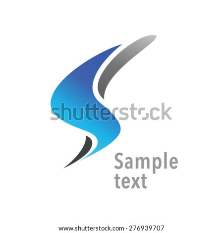 Dynamic letter S abstract logo concept - stock vector