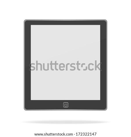 E book on white background - stock vector