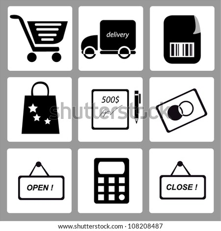e commerce, business and marketing - stock vector