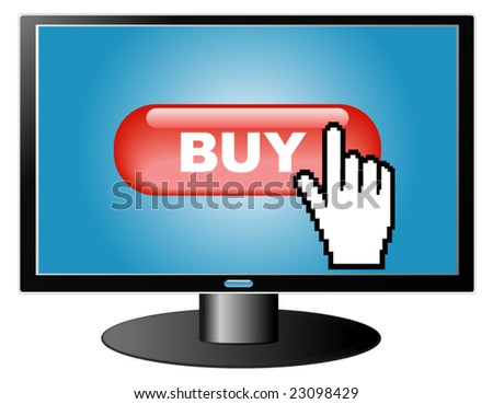 e-commerce concept, buying in Internet - stock vector