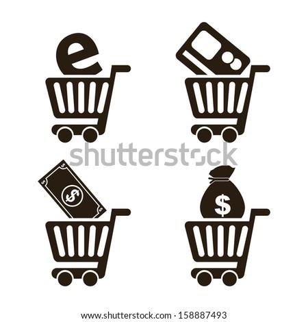 e-commerce design over  white background vector illustration - stock vector