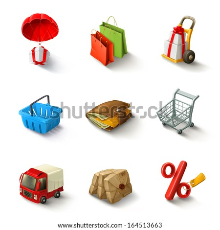 E-commerce vector icon set - stock vector