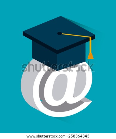 e-learning design, vector illustration eps10 graphic  - stock vector