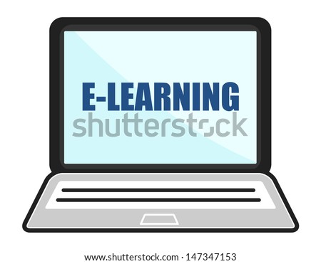 E-Learning Laptop Concept - stock vector