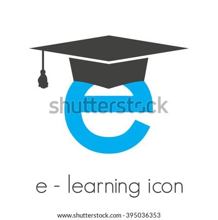 e-learning vector icon - stock vector