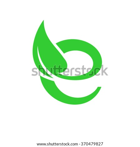 E Letter - stock vector