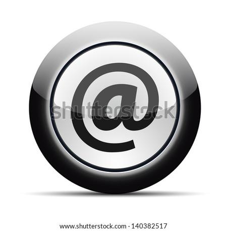 E-mail button - stock vector