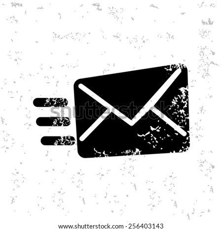 E-mail design on old paper,grunge vector - stock vector