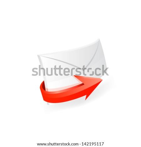 E-mail icon. Vector - stock vector
