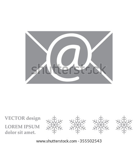 e-mail icon. Vector illustration  - stock vector