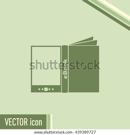 e-reader, book vector icons - stock vector