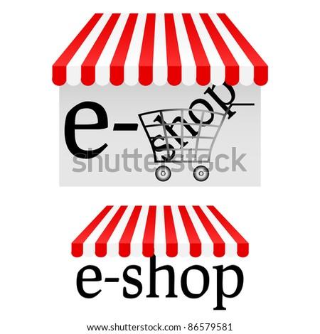 e-shop icons - stock vector
