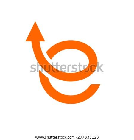 e shop logo design template. E Letter Logo. - stock vector