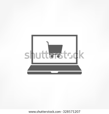 e-shopping icon - stock vector