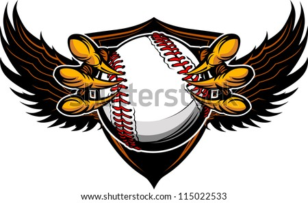 Eagle Baseball Talons and Claws Vector Illustration - stock vector