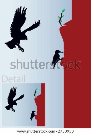 eagle, bride - stock vector