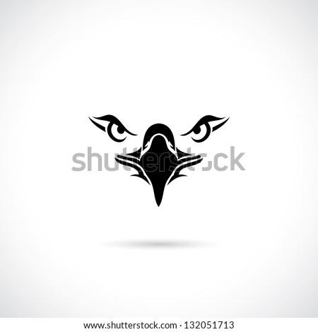 Eagle face - vector illustration - stock vector