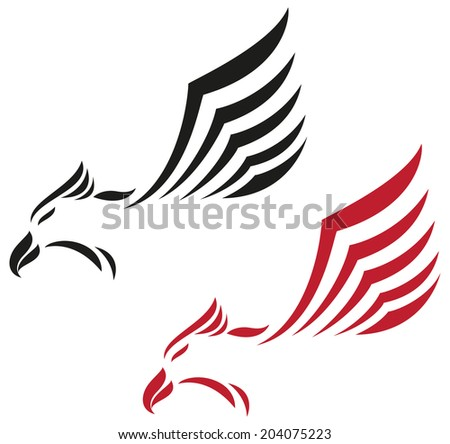 Eagle flying icon  - stock vector