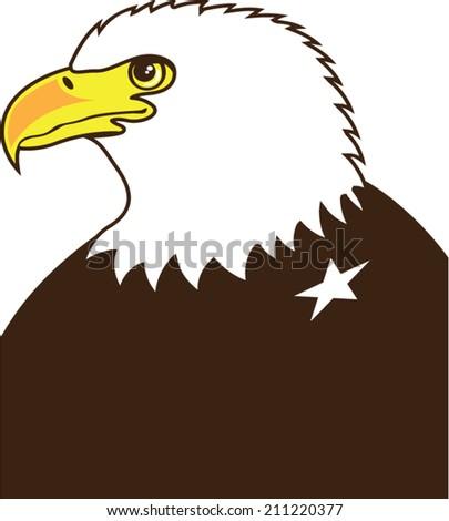 Eagle General Profile - stock vector