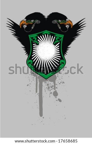 eagle side two - stock vector