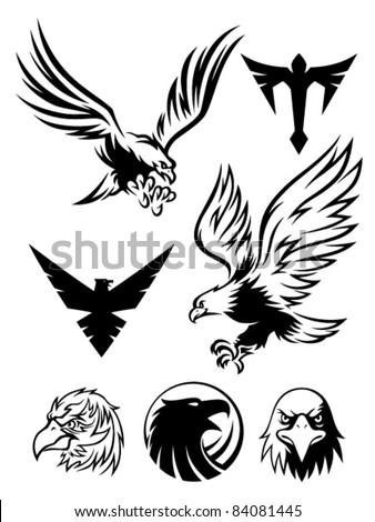Eagle Symbol - stock vector  Eagle Head Symbol