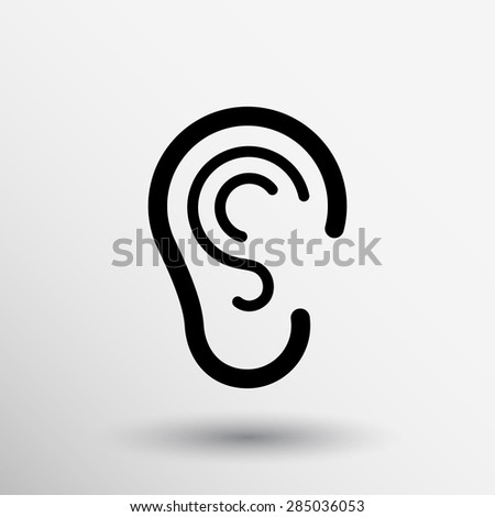 Listen Ear Icon Ear Icon Listen Vector Hear