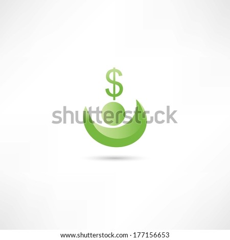 earning money - stock vector