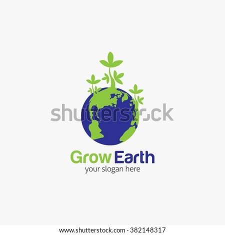 Earth Day concept. Earth Day card. Globe symbol. Vector illustration. Flat Style Design - stock vector