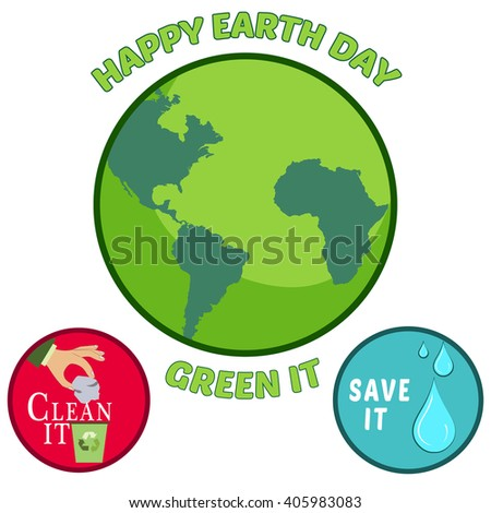 Earth day icons, vector illustration - stock vector