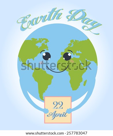 Earth day vector illustration - stock vector