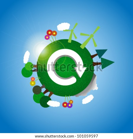 Earth - eco illustration - stock vector