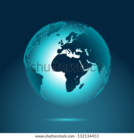 Earth, eps10 vector - stock vector