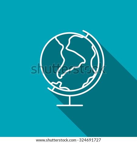 Earth globe icon - stock vector