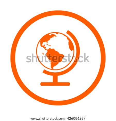 Earth globe icon stock vector illustration - stock vector