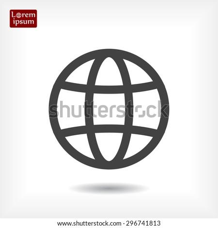 earth, globe line vector icon - stock vector