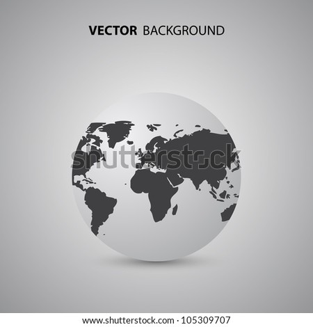 Earth Globe Vector Background - stock vector