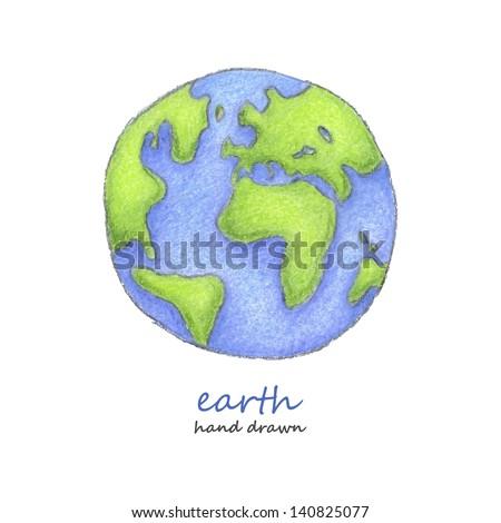 Earth. Hand drawn. Vector eps8 - stock vector