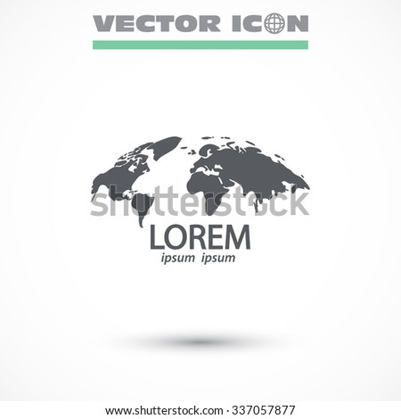 earth icon. Vector  Eps 10  - stock vector