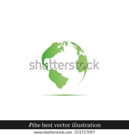Earth icon vector illustration eps10. - stock vector